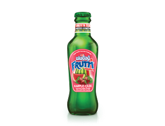 Uludağ Frutti Watermelon-Strawberry Flavored 200 ml Glass Bottle