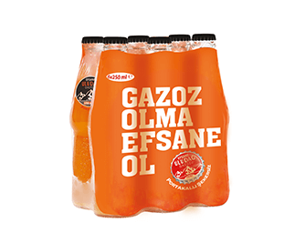 Legendary Uludağ Gazoz Orange Sugar Free 6x250 ml Multi-Pack